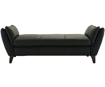 Raymour & Flanigan Natuzzi Leather Chaise/Daybed