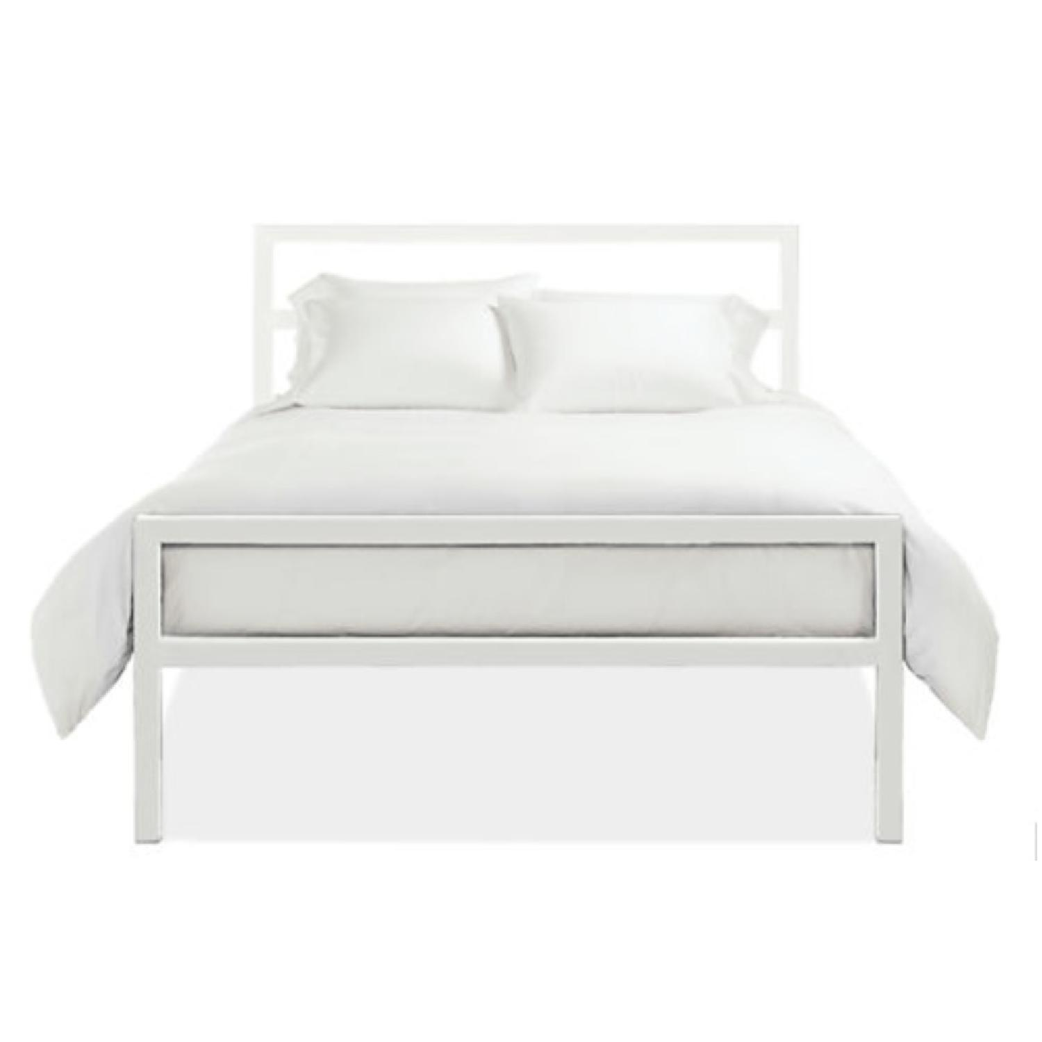 Room & Board Parsons White Tall Full Size Bed