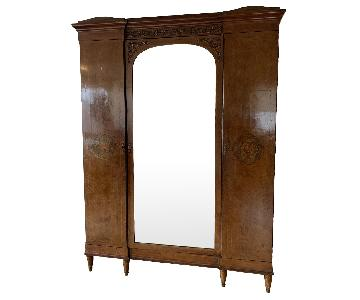 ABC Carpet & Home Circa 1890 French Satinwood 3 Door Armoire