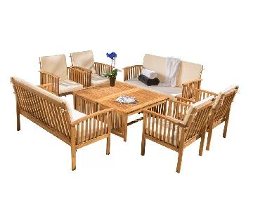 Beachcrest Home Roosevelt 8 Piece Outdoor Seating w/ Cushion