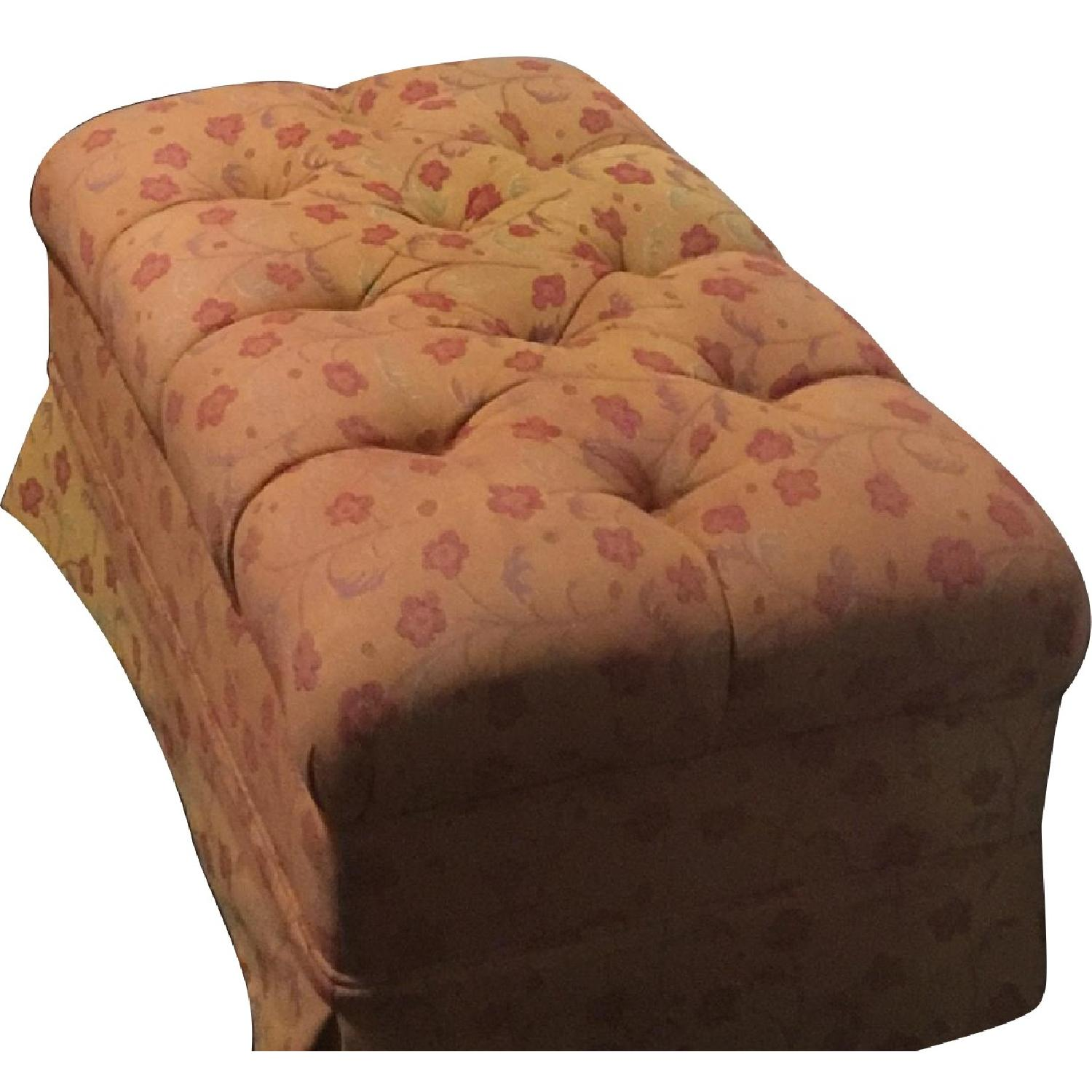 Floral Tufted Ottoman