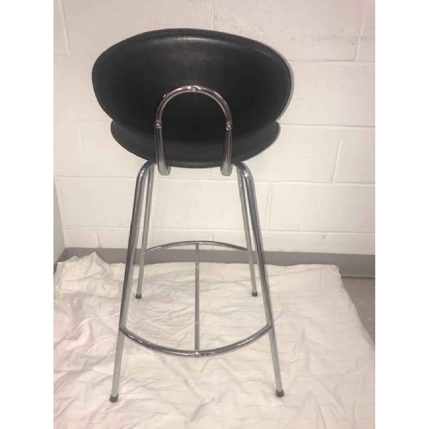 Room & Board Chrome & Black Barstools-1