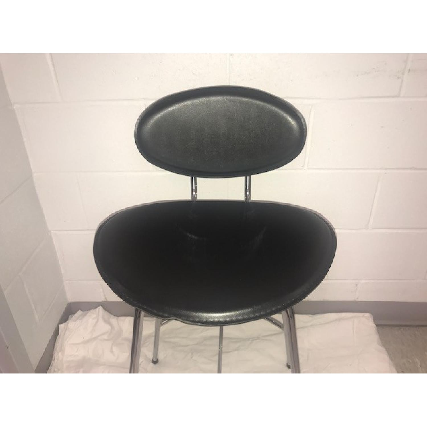 Room & Board Chrome & Black Barstools-3