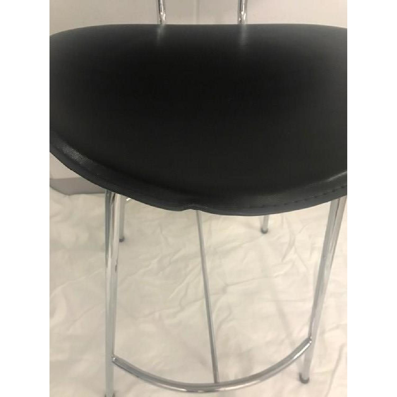 Room & Board Chrome & Black Barstools-4