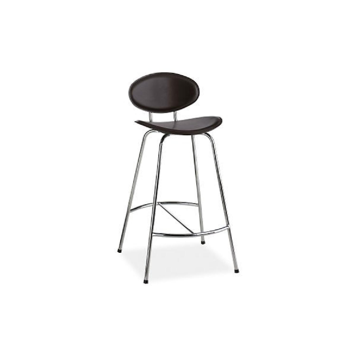 Room & Board Chrome & Black Barstools