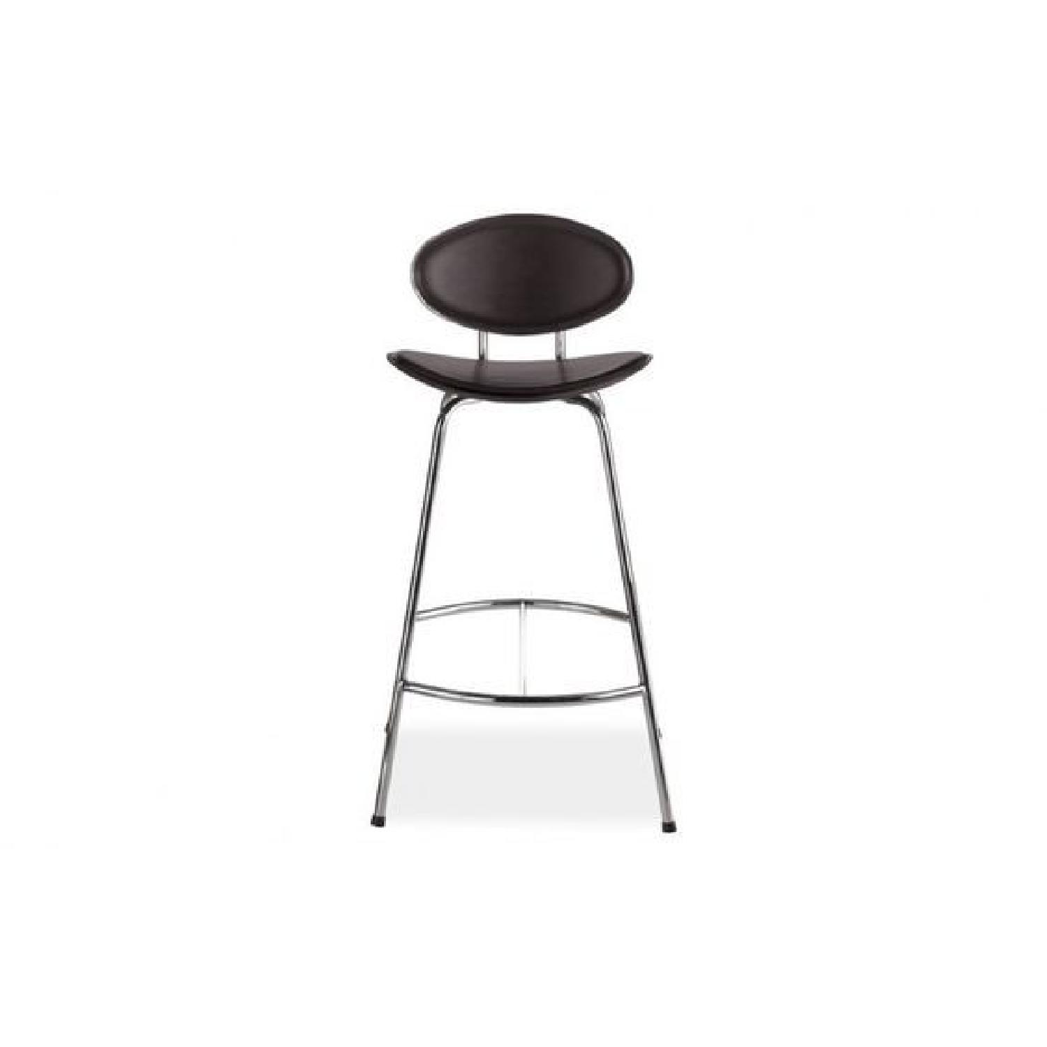 Room & Board Chrome & Black Barstools-5