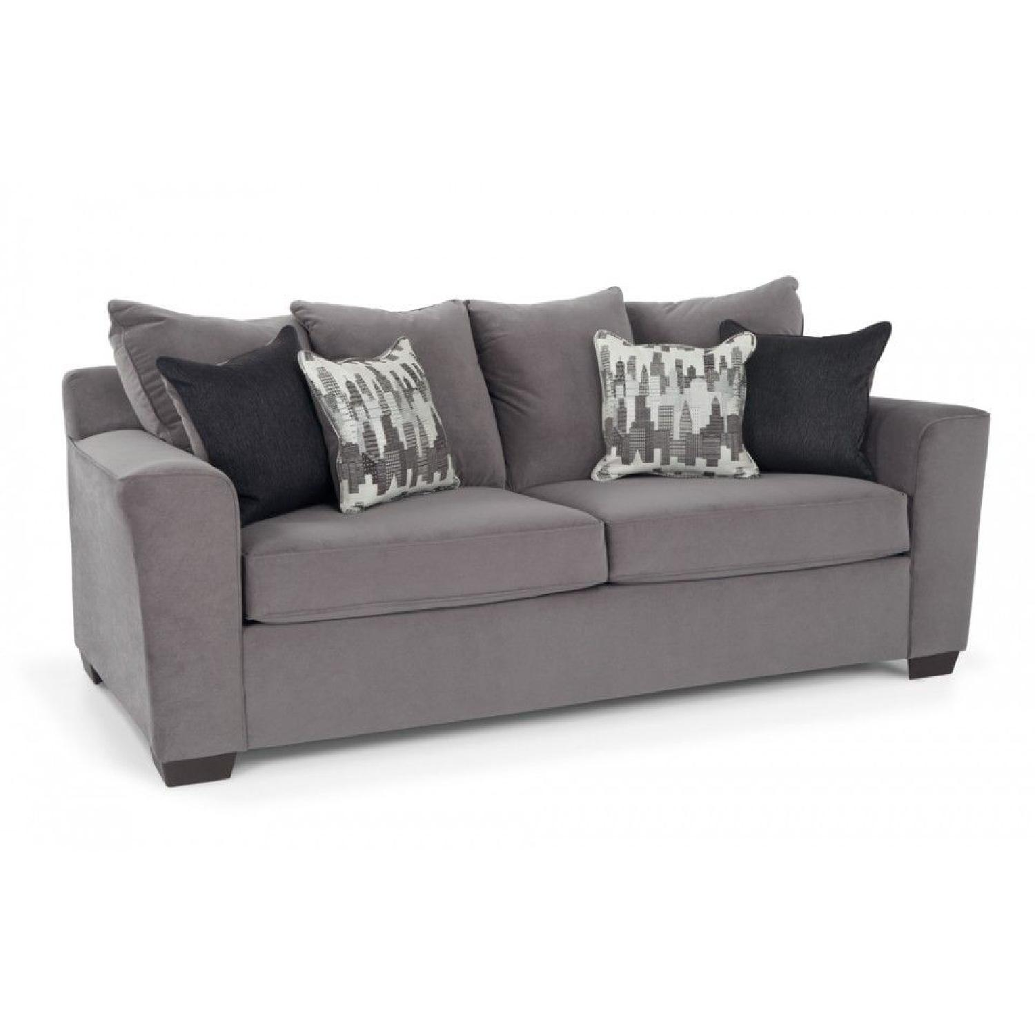 Bob's Skyline Gray Fabric Sofa