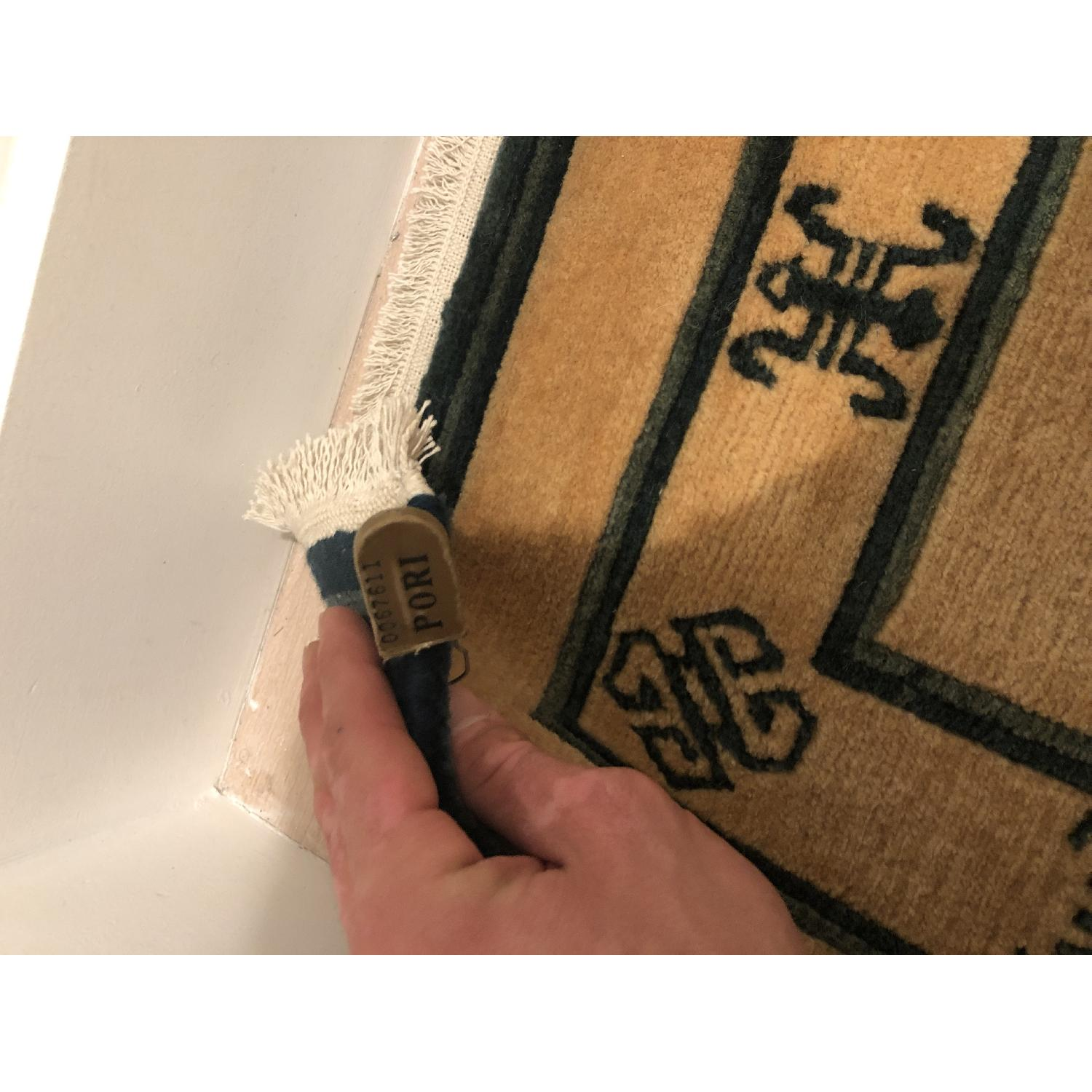 ABC Carpet and Home Handwoven Wool Indian Rug-1