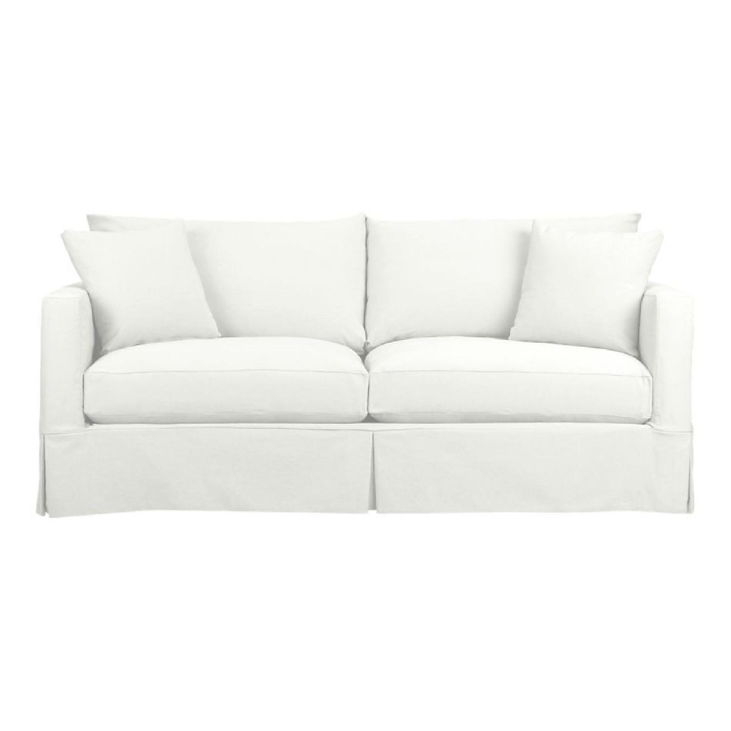 Crate & Barrel Slipcovered Sleeper Sofa