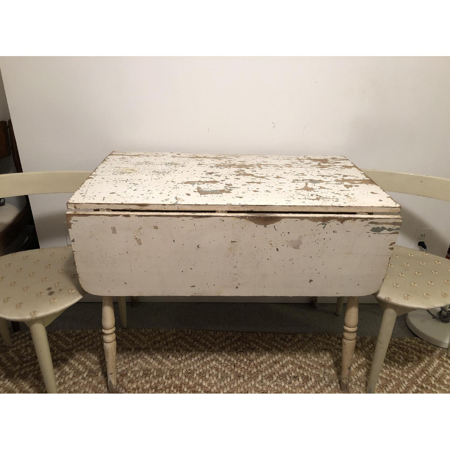 distressed wood dining table grey vintage distressed dining table w chairs aptdeco