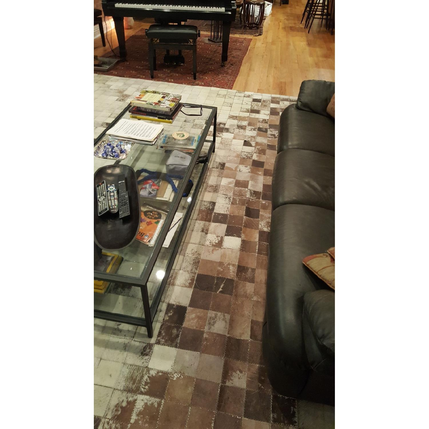 ABC Carpet & Home Cowhide Patchwork Rug-0
