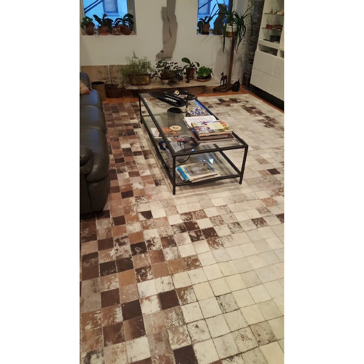 ABC Carpet & Home Cowhide Patchwork Rug-1