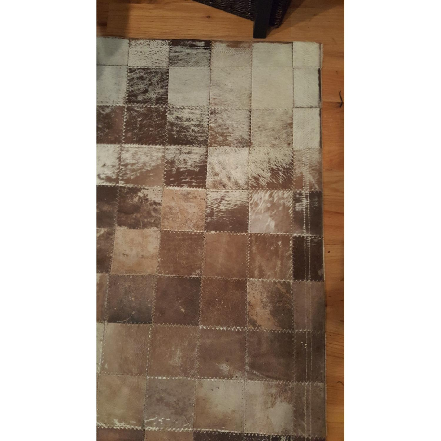 ABC Carpet & Home Cowhide Patchwork Rug-2