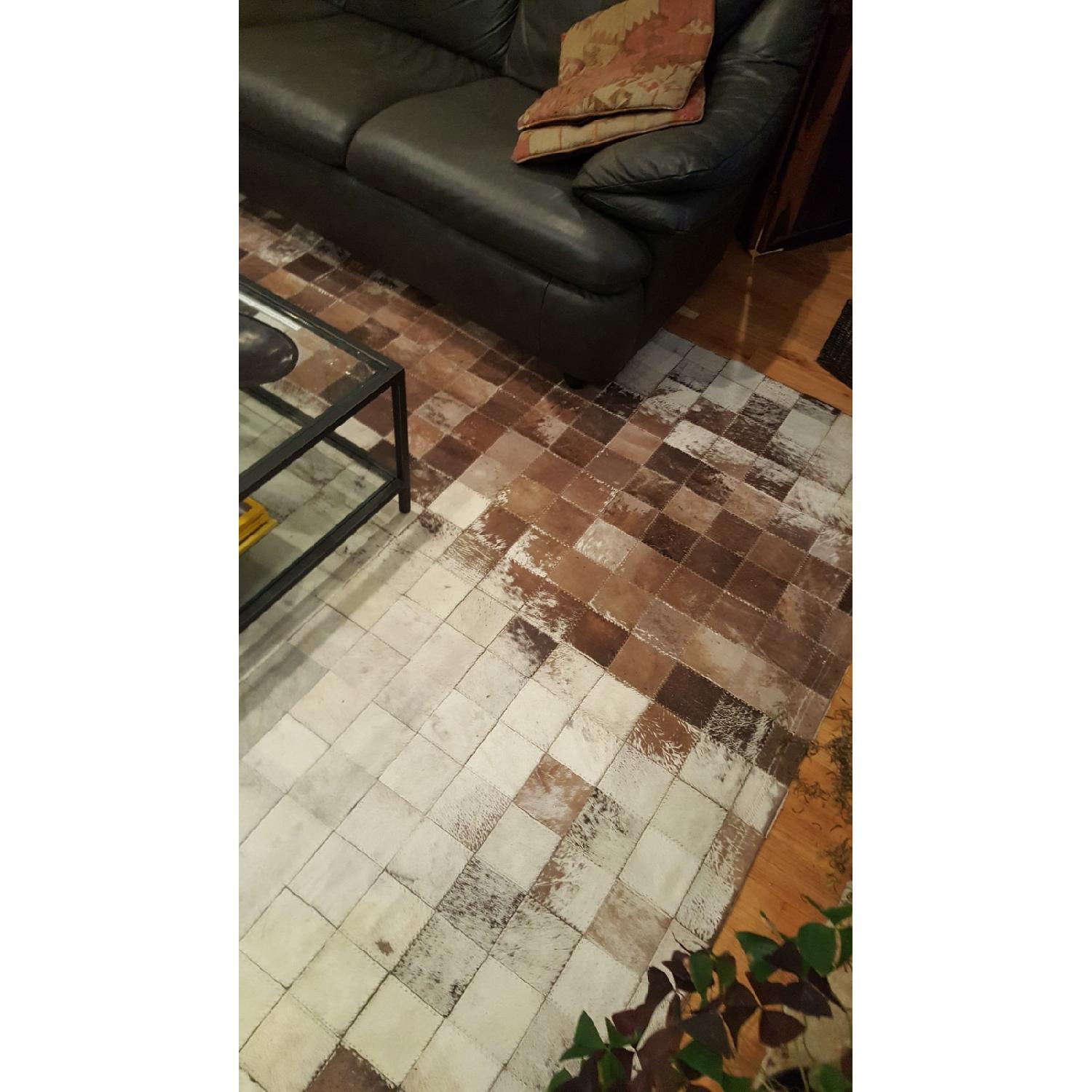 ABC Carpet & Home Cowhide Patchwork Rug-3