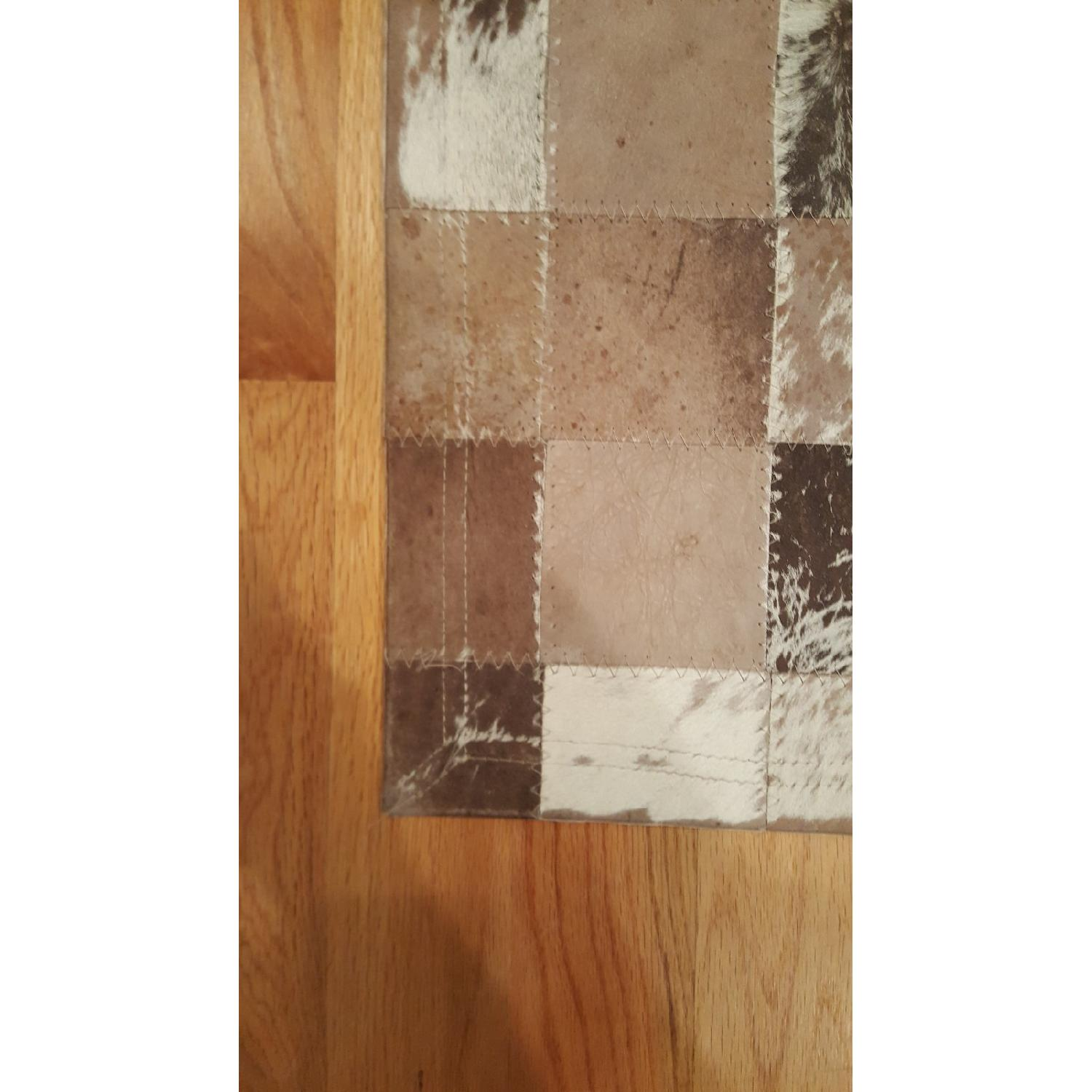 ABC Carpet & Home Cowhide Patchwork Rug-4