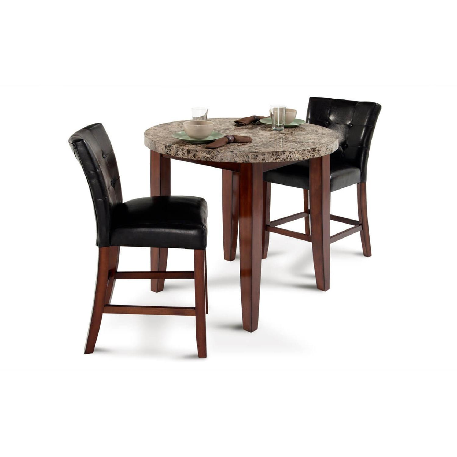 3 piece dining room set counter height dining bobs marble 3piece dining set aptdeco