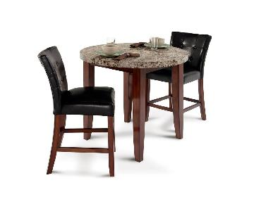 3 piece kitchen table bobs marble 3piece dining set new used furniture for sale aptdeconew