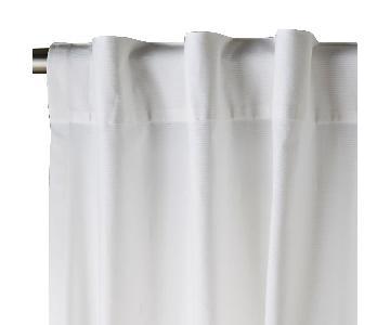 West Elm Cotton Canvas Pole Pocket Curtain + Blackout Panel