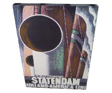 A.M. Cassandre 1980 Statendam Holland-America Line Art Print