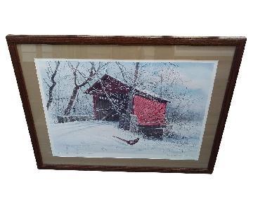 Harry Lamar Richardson Winter Crossing Ltd Print