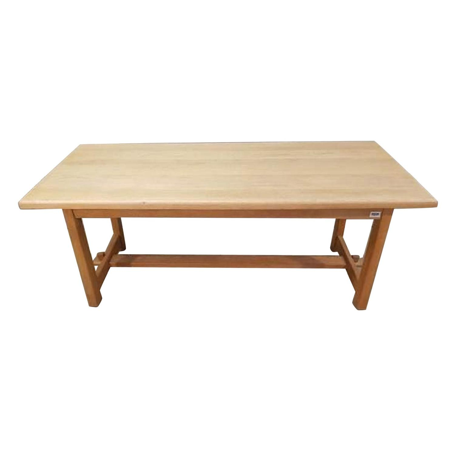 Vintage Solid French Country Farmhouse Oak Dining Table