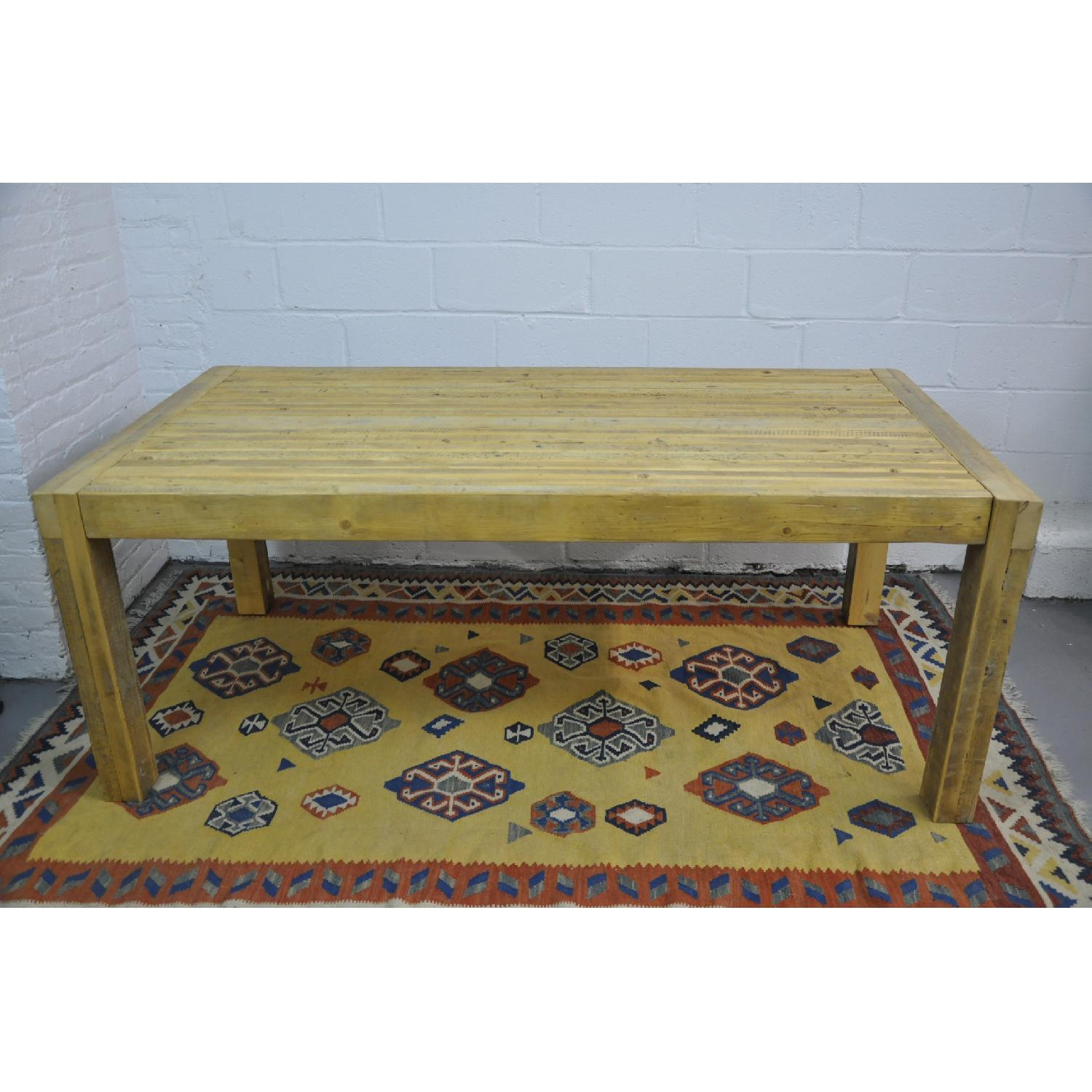 Contemporary Rustic Reclaimed Salvaged Wood Dining Table-0