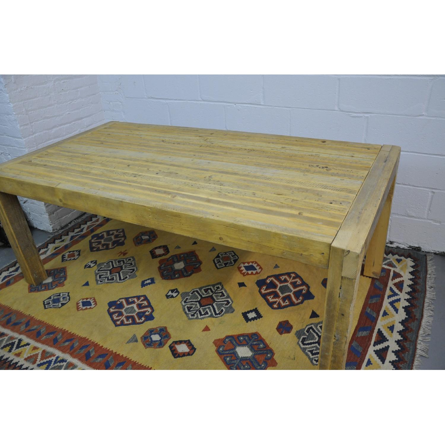 Contemporary Rustic Reclaimed Salvaged Wood Dining Table-1