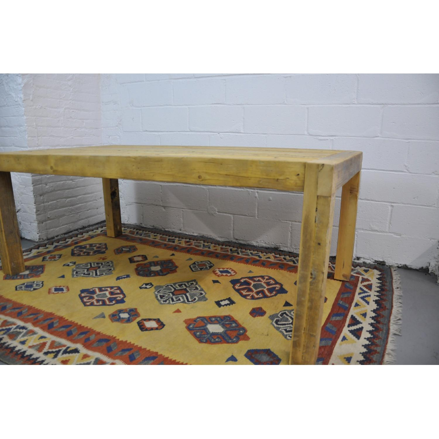 Contemporary Rustic Reclaimed Salvaged Wood Dining Table-2