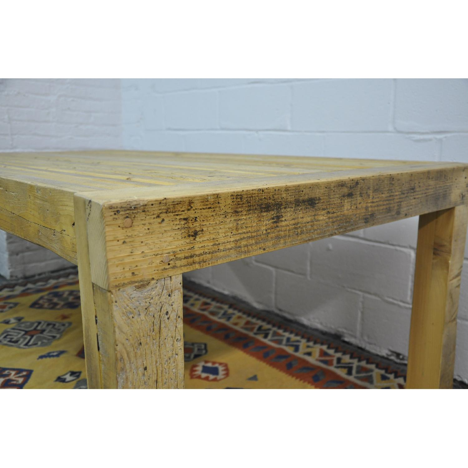 Contemporary Rustic Reclaimed Salvaged Wood Dining Table-3