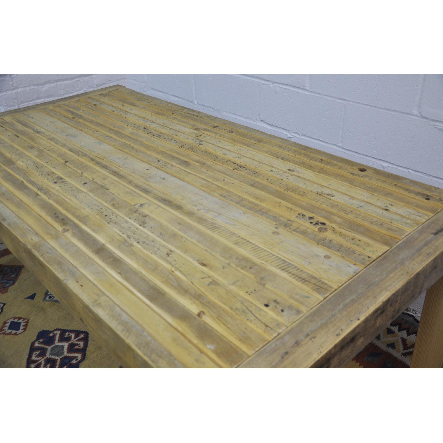 Contemporary Rustic Reclaimed Salvaged Wood Dining Table-5