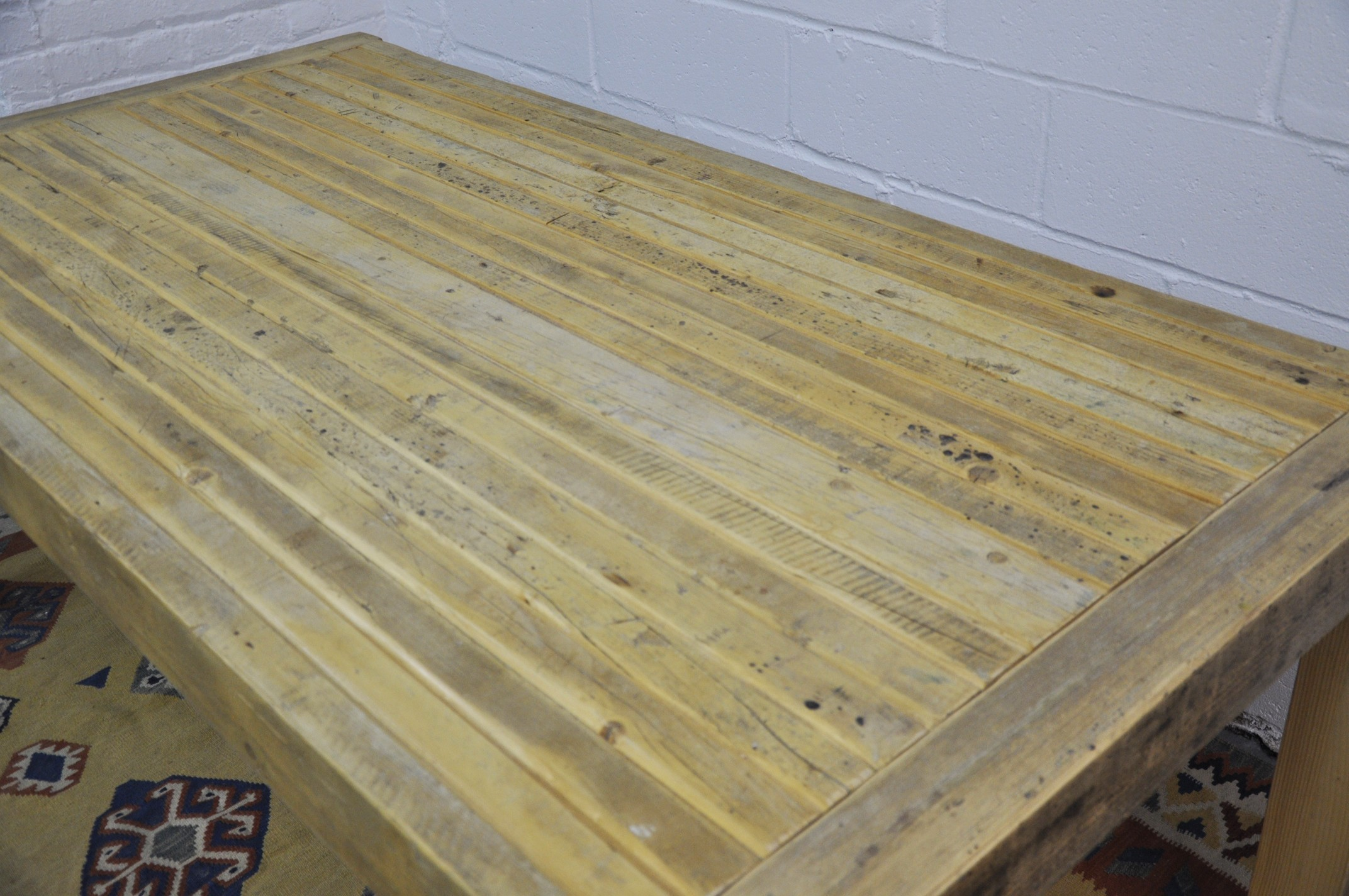 Contemporary Rustic Reclaimed Salvaged Wood Dining Table