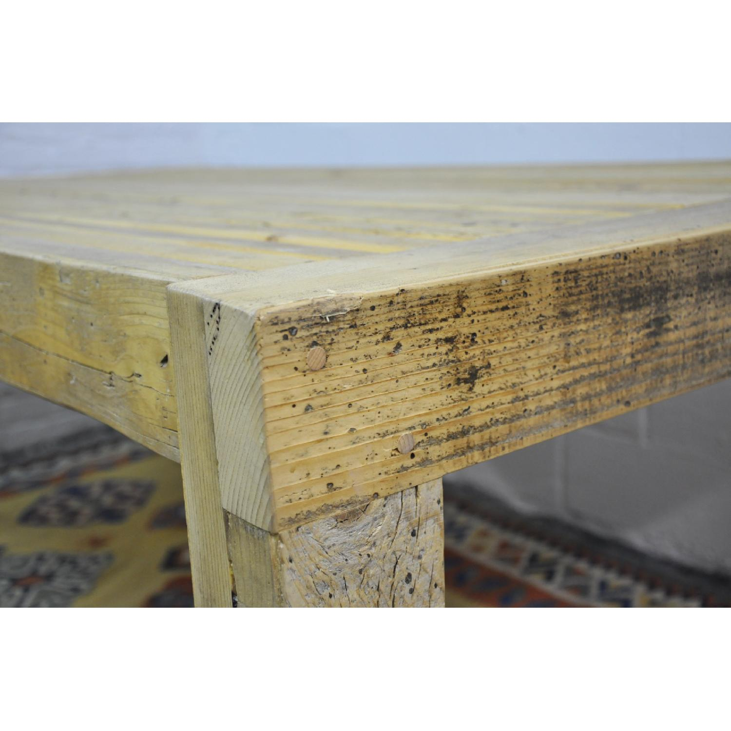 Contemporary Rustic Reclaimed Salvaged Wood Dining Table-11