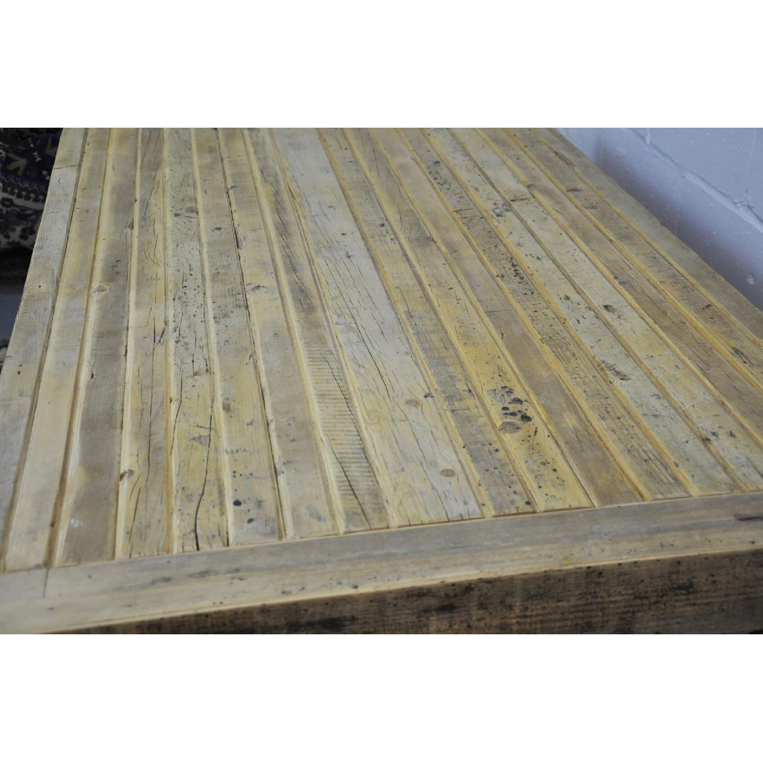 Contemporary Rustic Reclaimed Salvaged Wood Dining Table-14