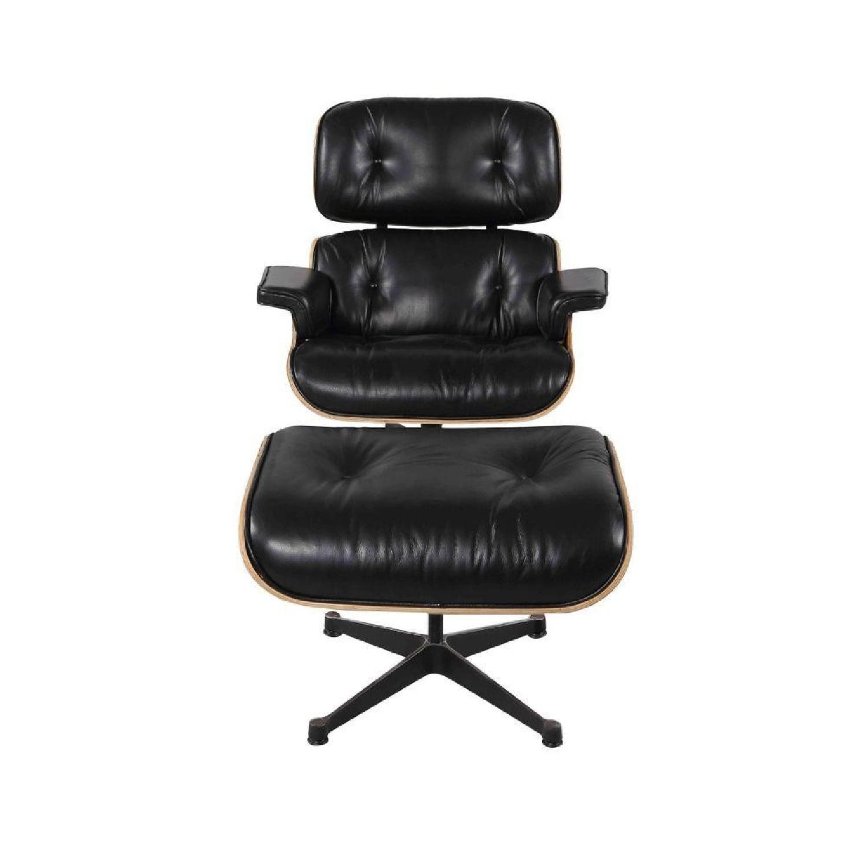 Manhattan Home Design Classic Lounge Chair Replica in Black - image-1