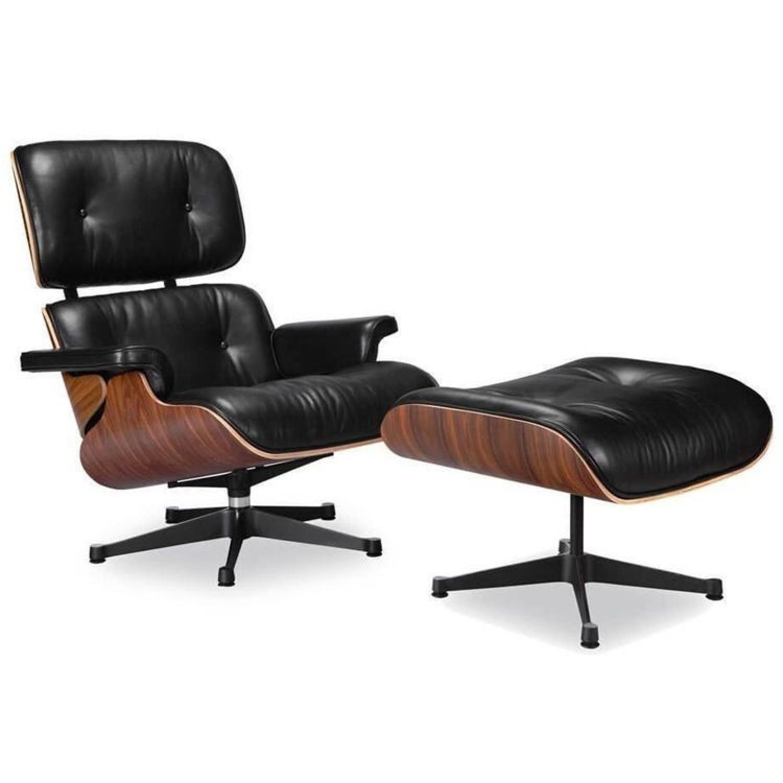 Manhattan Home Design Classic Lounge Chair Replica in Black - image-0