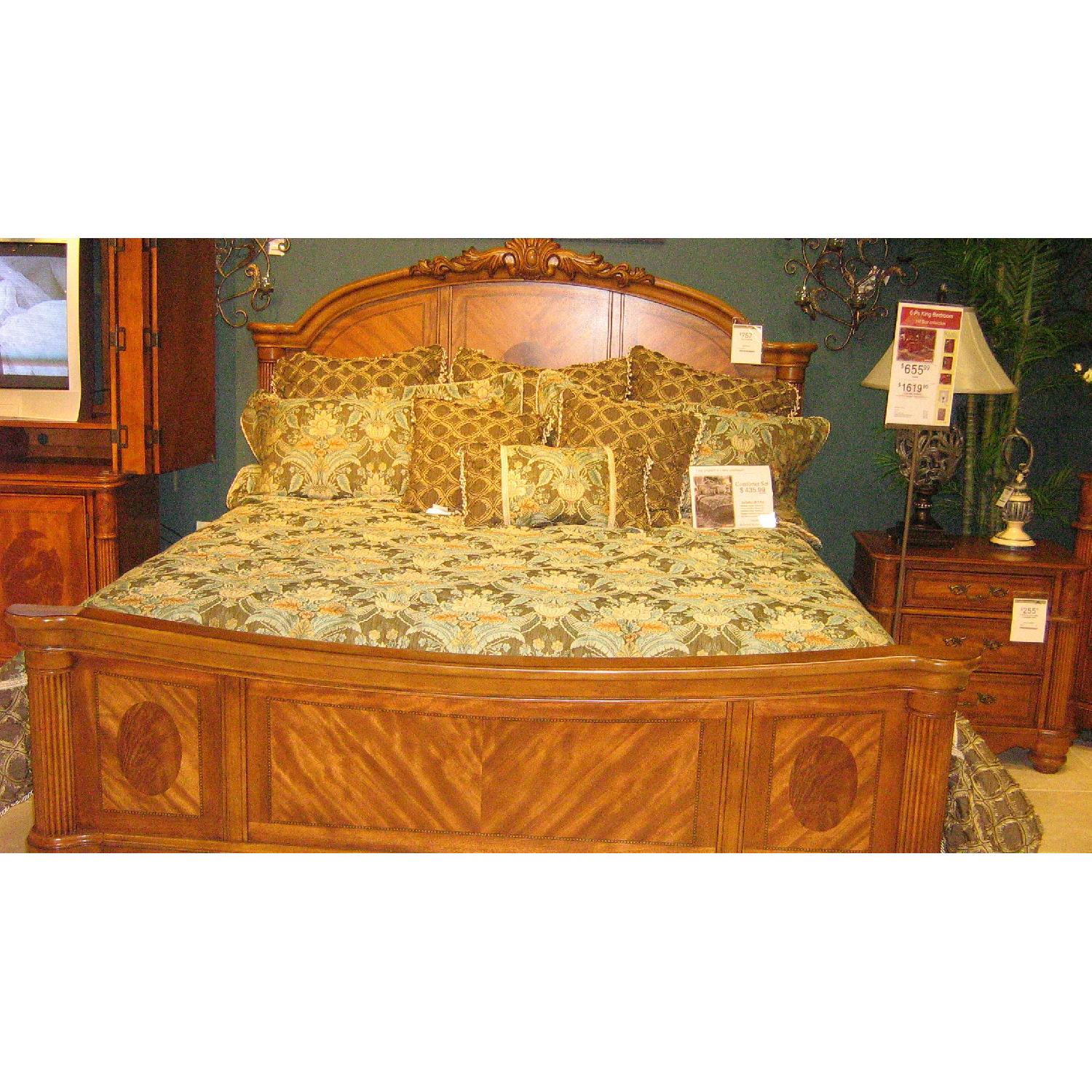 Ashley Solid Wood King Size Bed