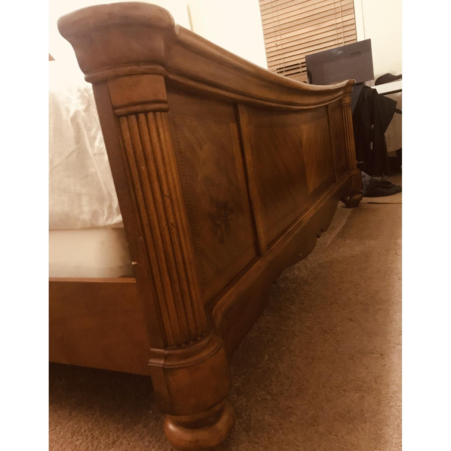 Ashley Solid Wood King Size Bed-1