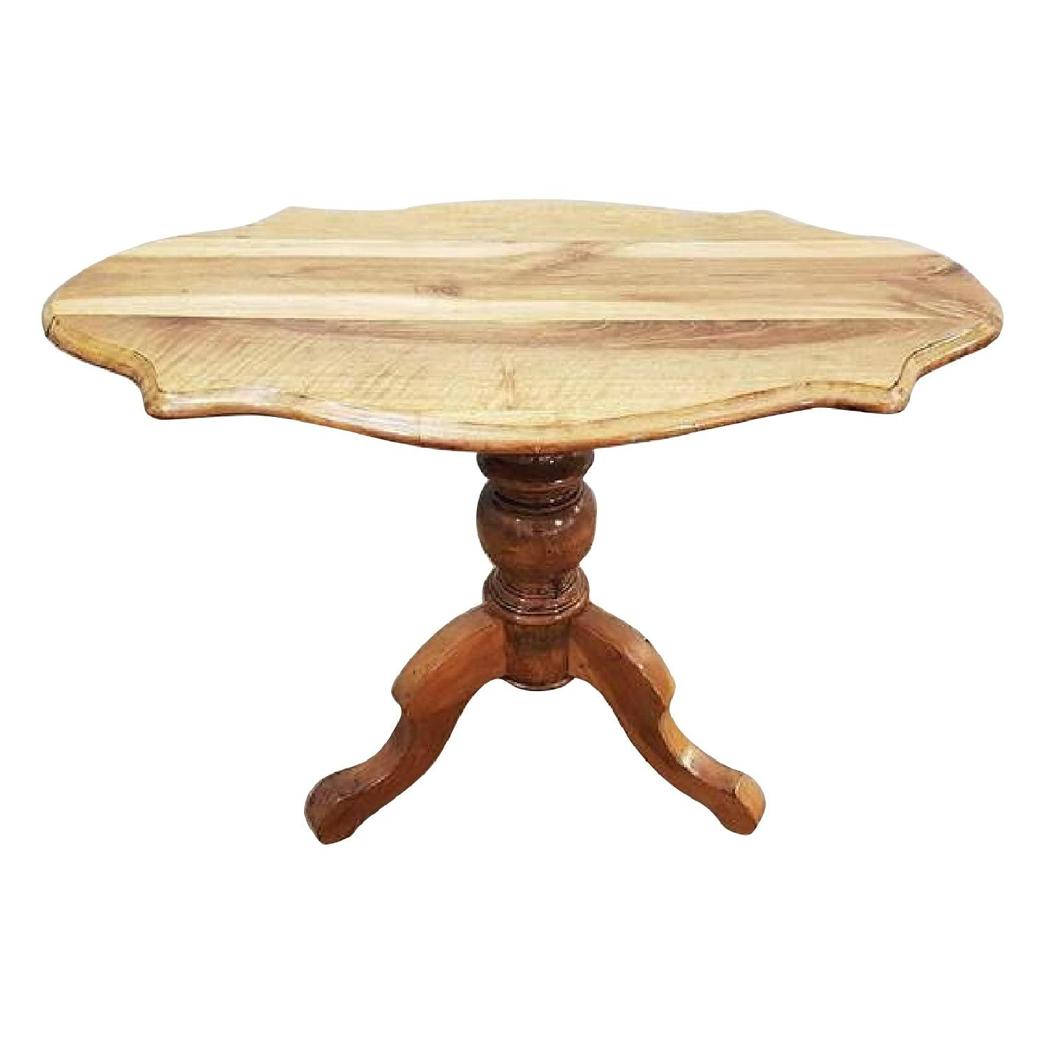 Antique French Round Walnut Tilt-Top Side Table