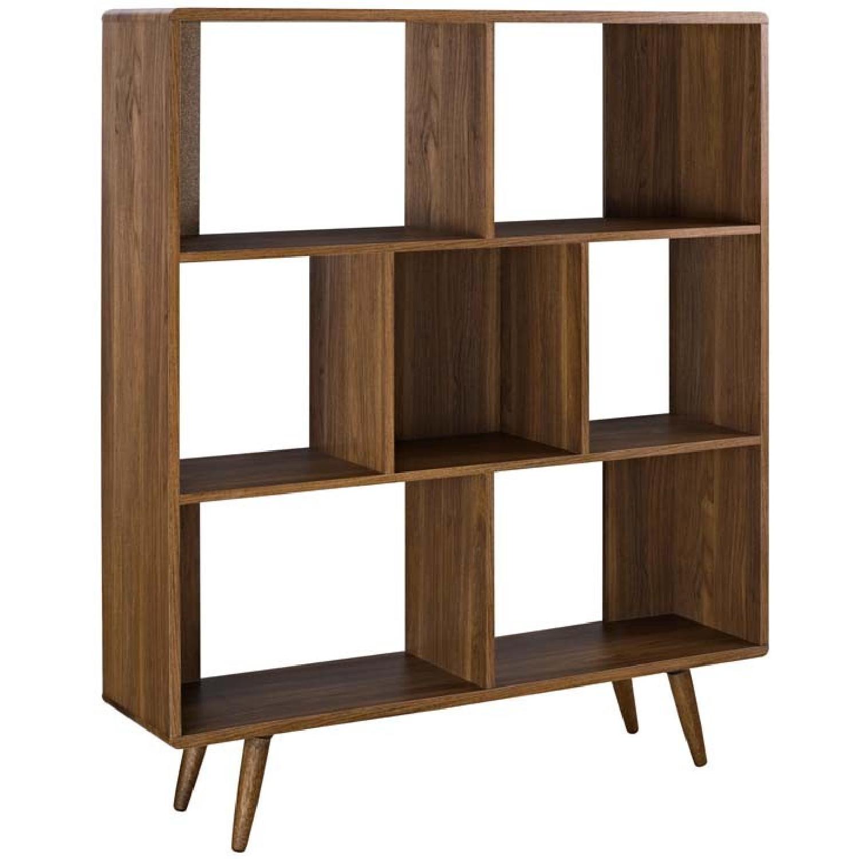 Manhattan Home Design Modern Bookcase in Walnut