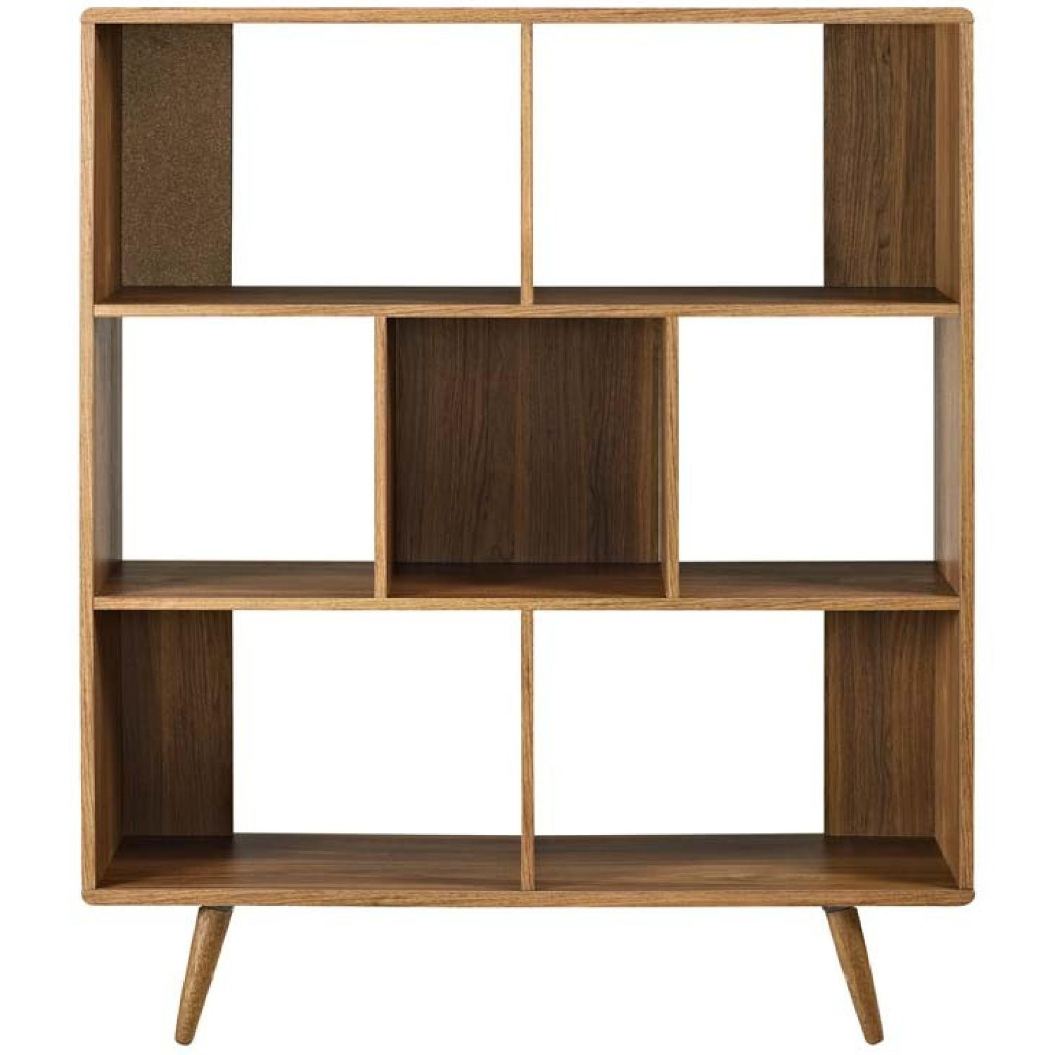 Manhattan Home Design Modern Bookcase In Walnut Aptdeco