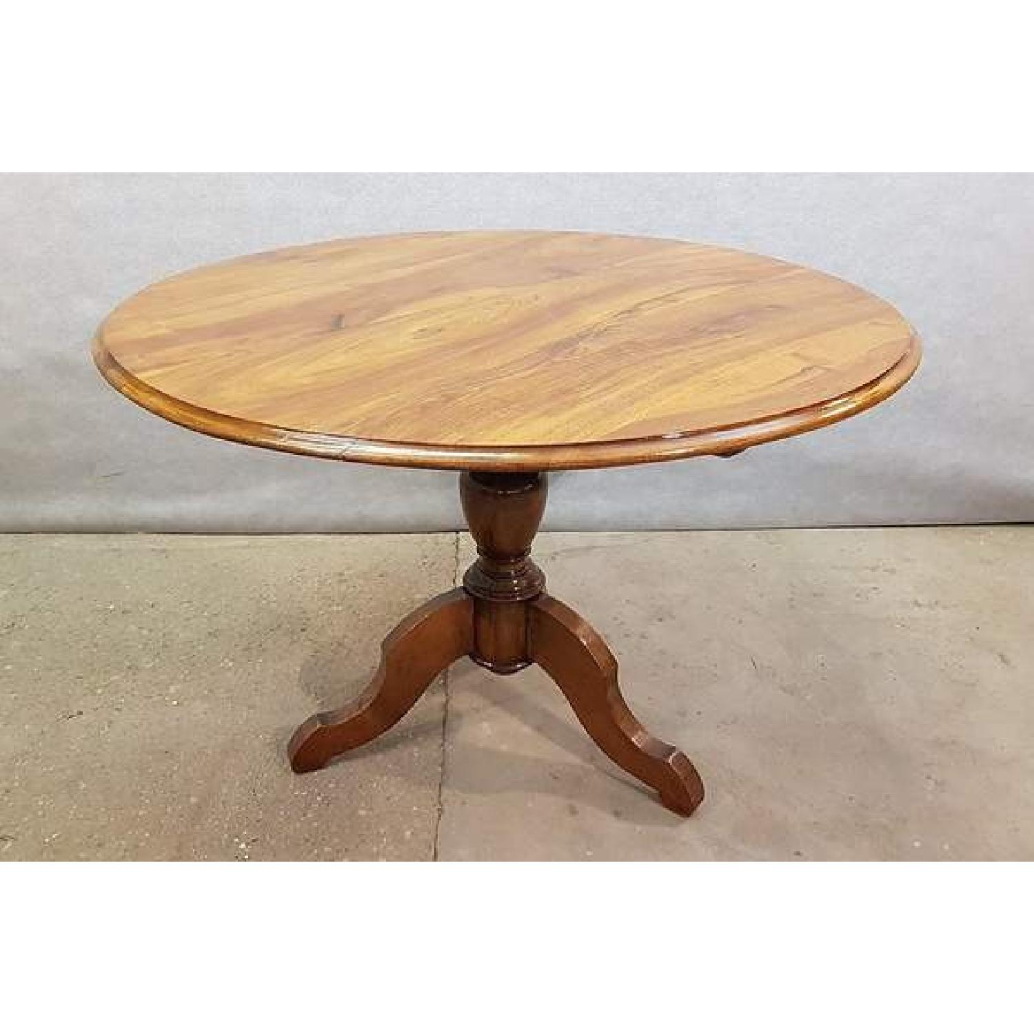 Antique French Walnut Round Tilt Top Occasional Side Table-2