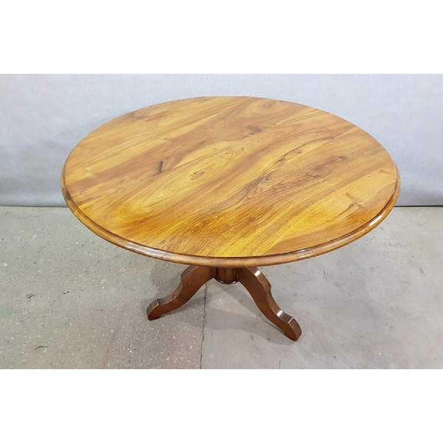 Antique French Walnut Round Tilt Top Occasional Side Table-5