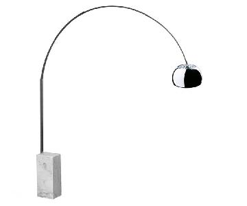 Manhattan Home Design Arc Lamp in White