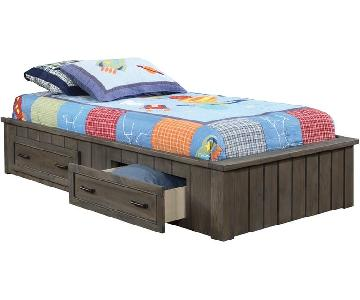 Full Size Captain's Bed w/ 2 Storage Drawers