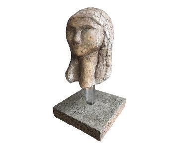 Vintage Modern Sculpture Bust Female Form