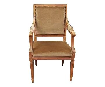 French Louis XVI Square Back Vintage Dining Chairs