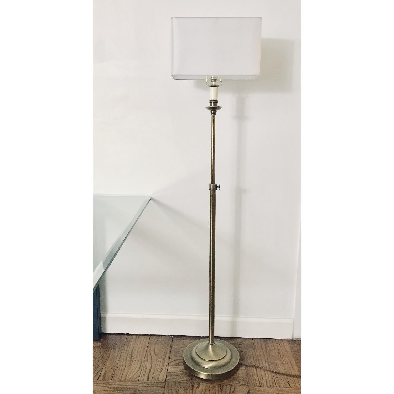 Adjustable Floor Lamps in Raw Brass