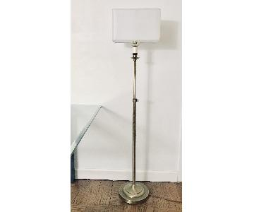 Adjustable Floor Lamps in Raw Brass