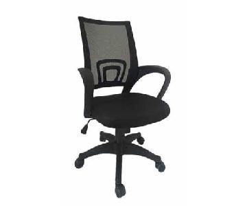 Modern Office Chair w/ Armrests & Mesh Back