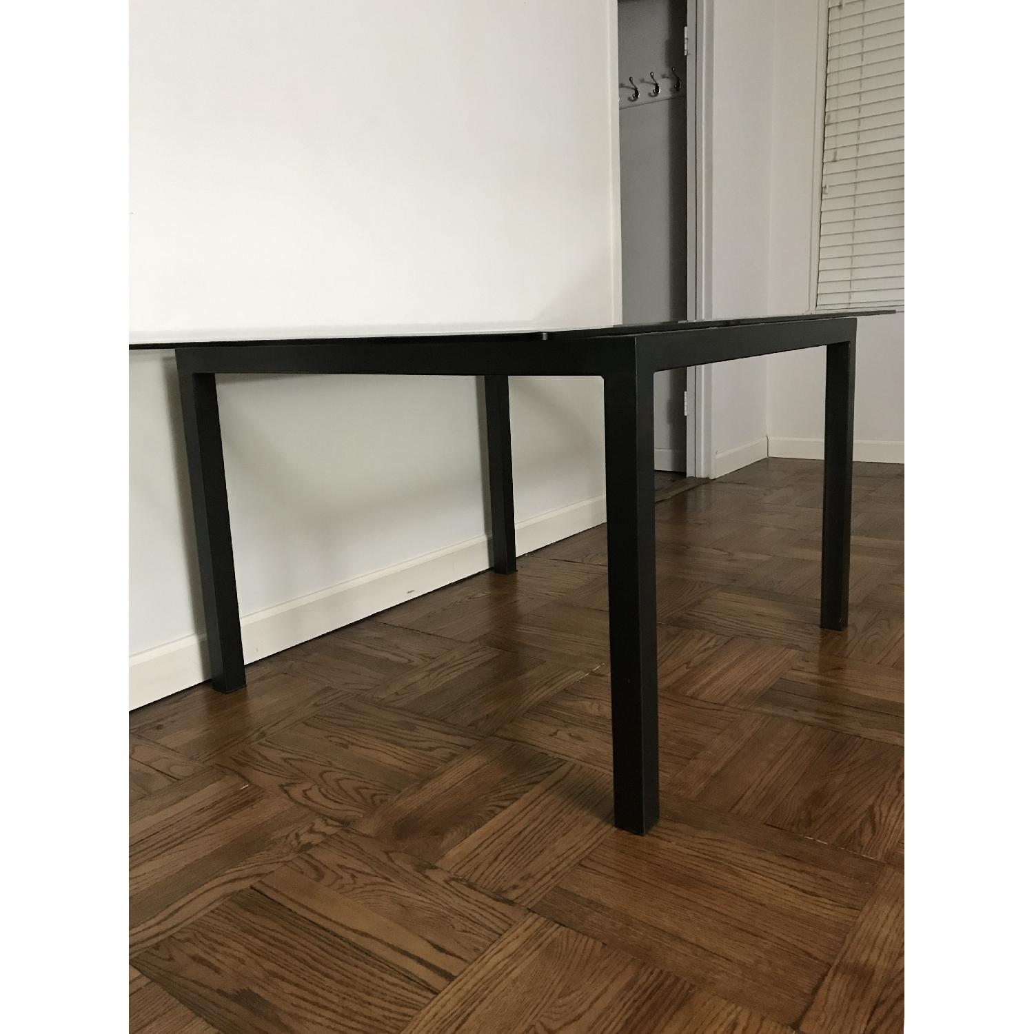 Room & Board Natural Steel Dining Table w/ Glass Top-0